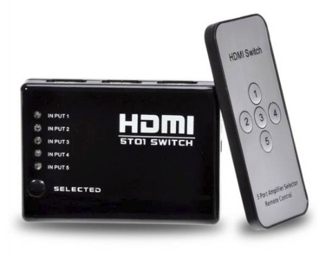 SWITCH HDMI 5PORTAS WI346 MULTILASER