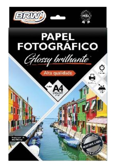 PAPEL P/FOTO GLOSSY A4 210x297 20F 120G PP2012 BRW