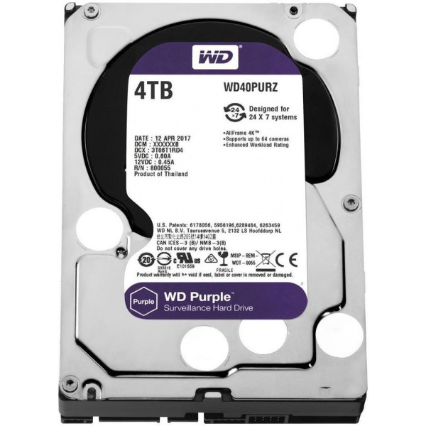 HD 4TB SATA PURPLE WD40PURZ WD