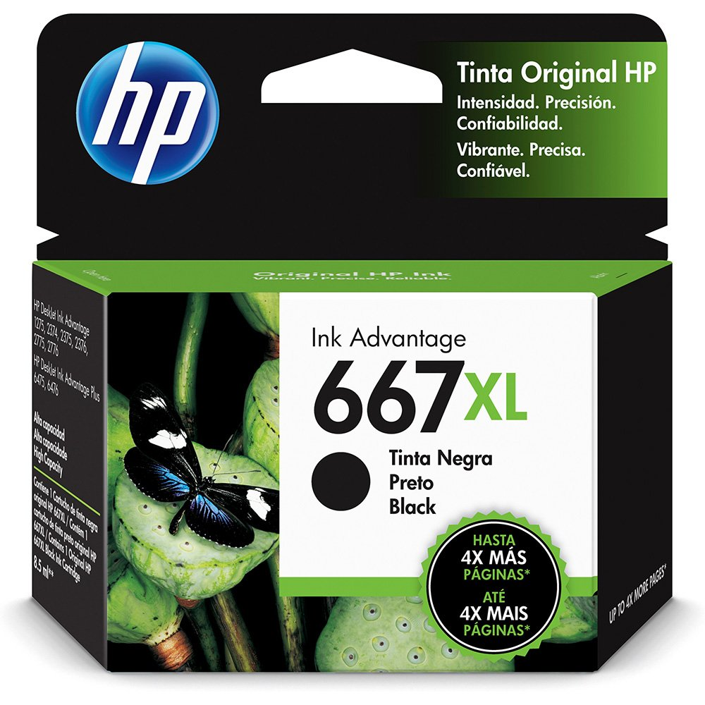 CARTUCHO ORIGINAL 667XL 3YM81AL PRETO HP